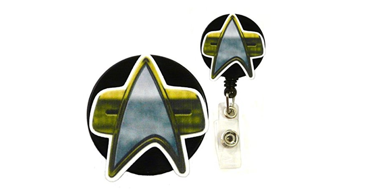 star trek badge holder