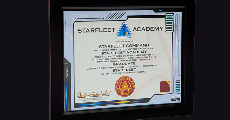 Bon Star Fleet Academy Certificate